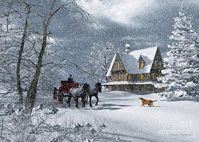 Winter Of Bygone Days Art Print