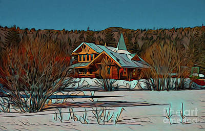 Photograph - Winter Home 19718 by Ray Shrewsberry