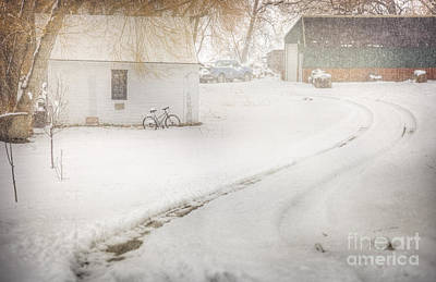 Photograph - Winter Home Road by Craig J Satterlee