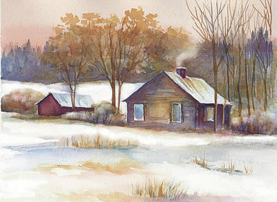 Painting - Winter Homestead by Peggy Wilson