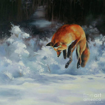 Painting - Winter Hunt by Charice Cooper