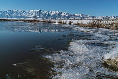 Photograph - Winter Ice Flows by Justin Johnson