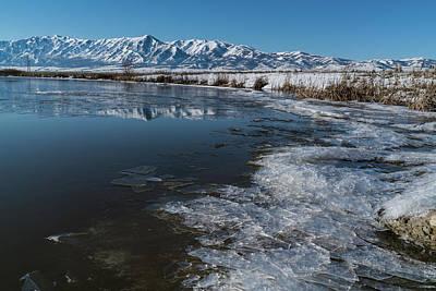 Winter Ice Flows Art Print by Justin Johnson