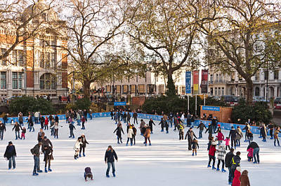 Photograph - Winter Ice Rink by Wendy Le Ber
