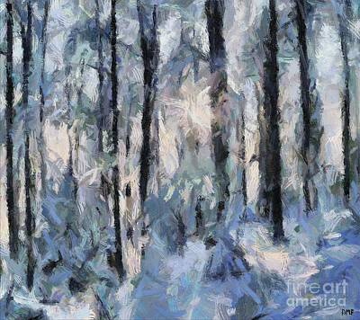Painting - Winter Idyll by Dragica Micki Fortuna