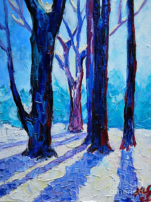Art Print featuring the painting Winter Impression by Ana Maria Edulescu