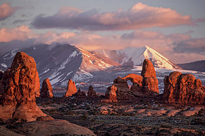 Photograph - Winter In Arches Np by Wesley Aston