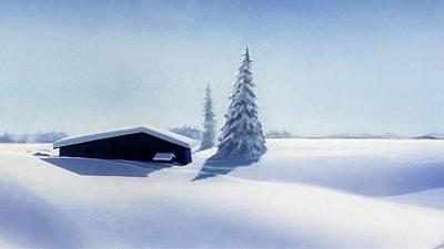 Pastel - Winter In Austria by Johannes Margreiter