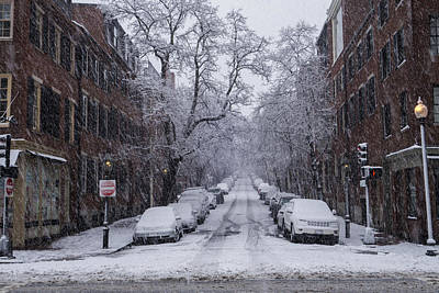 Photograph - Winter In Boston Charles Street Beacon Hill by Toby McGuire