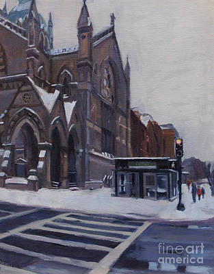 South Boston Painting - Winter In Boston by Deb Putnam
