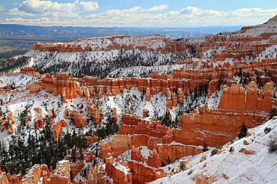 Thomas Kinkade Royalty Free Images - Winter in Bryce Canyon Royalty-Free Image by Pierre Leclerc Photography