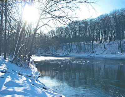 Photograph - Winter In Bucks County by Judith Morris