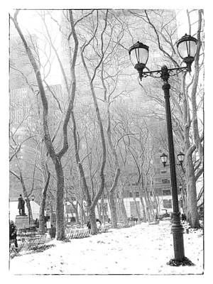 Winter In Byrant Park Art Print