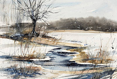 Painting - Winter In Caz by Judith Levins