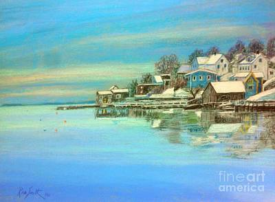 Pastel - winter in Chester ,Nova Scotia  by Rae  Smith PAC