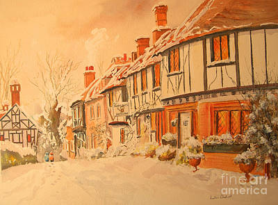 Painting - Winter In Chilham Kent by Beatrice Cloake