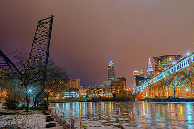 Winter In Cleveland, Ohio  Art Print