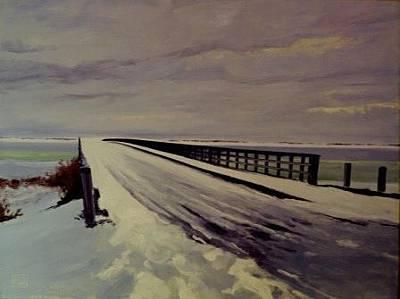 Painting - Winter In Duxbury by David Rodman Johnson