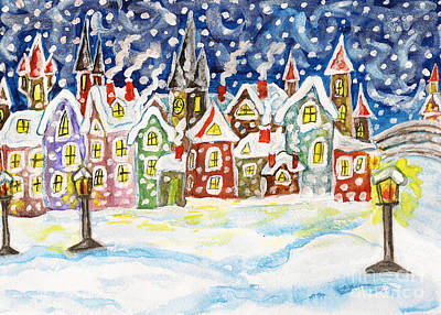 Painting - Winter In Fairy Town by Irina Afonskaya