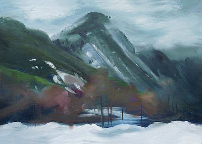 Painting - Winter In Franconia Notch by Nancy Griswold