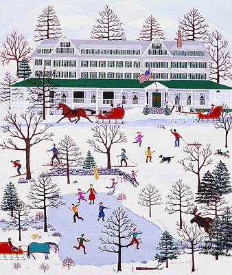 Winter In Jackson New Hampshire Art Print by Susan Henke