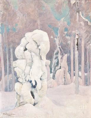 Pekka Wall Art - Painting - Winter In Kinahmi by Celestial Images