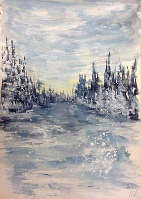 Painting - Winter In Light Blues by Desmond Raymond