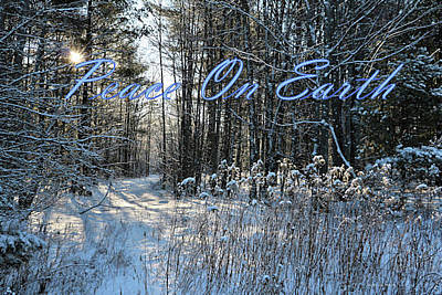 Photograph - Winter In Maine - Peace On Earth Christmas Card by Sandra Huston