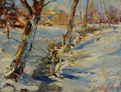 Painting - Winter In Mat by Sefedin Stafa