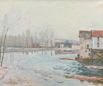 Winter Painting - Winter In Moret by MotionAge Designs