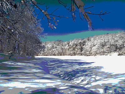 Winter In New England Art Print by Dianne Cowen
