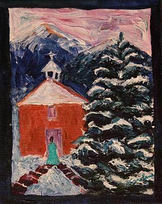 Painting - Winter In New Mexico by Carolene Of Taos