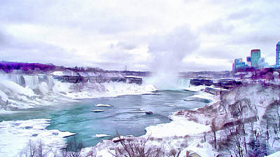 Digital Art - Winter In Niagara 1 by Leslie Montgomery