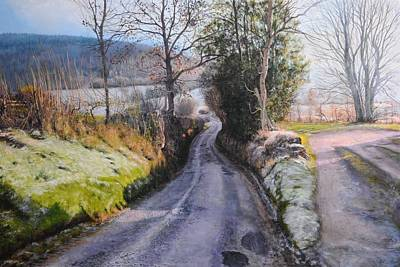 Gleam Painting - Winter In North Wales by Harry Robertson