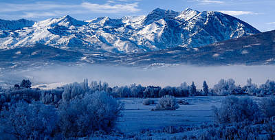 Winter In Ogden Valley In The Wasatch Mountains Of Northern Utah Art Print