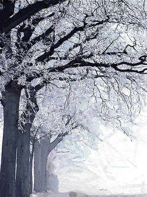 Fog Painting - Winter In Our Street by Steve K