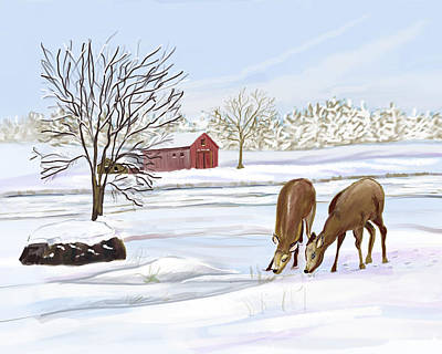Digital Art - Winter In Pennsylvania by Dorothy Riley