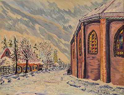 Painting - Winter In Solothurn  by Felicia Tica