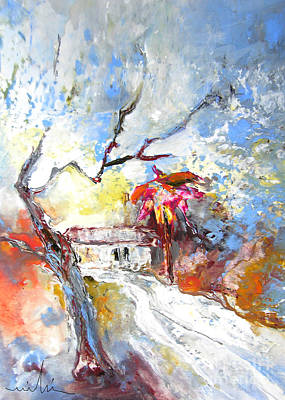 Painting - Winter In Spain by Miki De Goodaboom