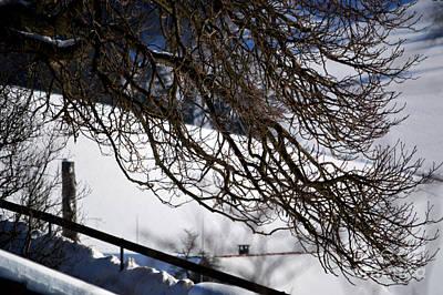 Winter In Switzerland - Snowy Path Art Print