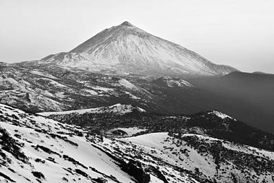 Photograph - Winter In Teide National Park Monochrome by Marek Stepan
