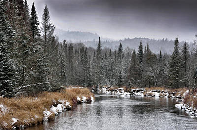 Photograph - Winter In The Adirondack Mountains - New York by Brendan Reals
