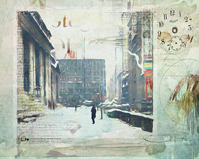 Photograph - Winter In The City by Nancie Rowan