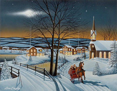 Painting - Winter In The Country by Don Engler