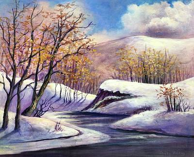 Art Print featuring the painting Winter In The Garden Of Eden by Randol Burns