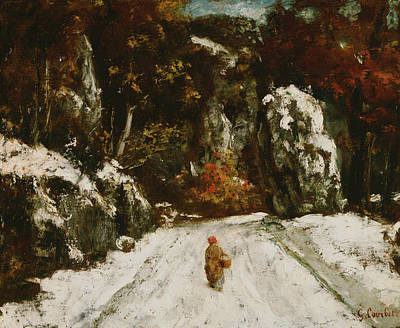 Courbet Painting - Winter In The Jura by Gustave Courbet