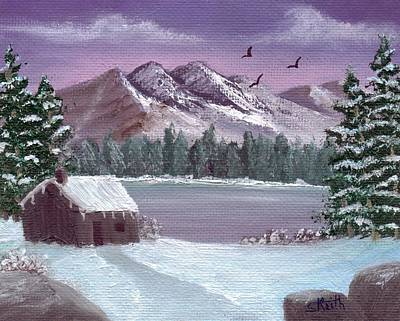 Painting - Winter In The Mountains by Sheri Keith