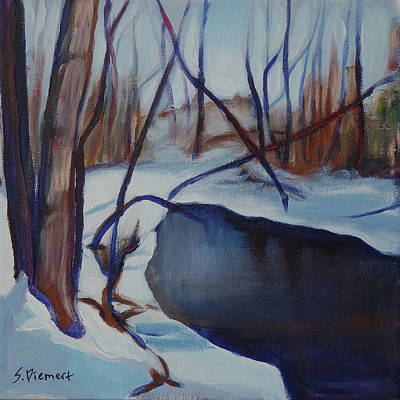 Painting - Winter In The Park - 007 Of Celebrate Canada 150 by Sheila Diemert