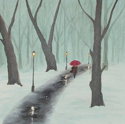 Painting - Winter In The Park by Ken Figurski