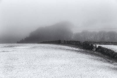 Peak District Photograph - Winter In The Peaks No 8 Mono by Chris Fletcher